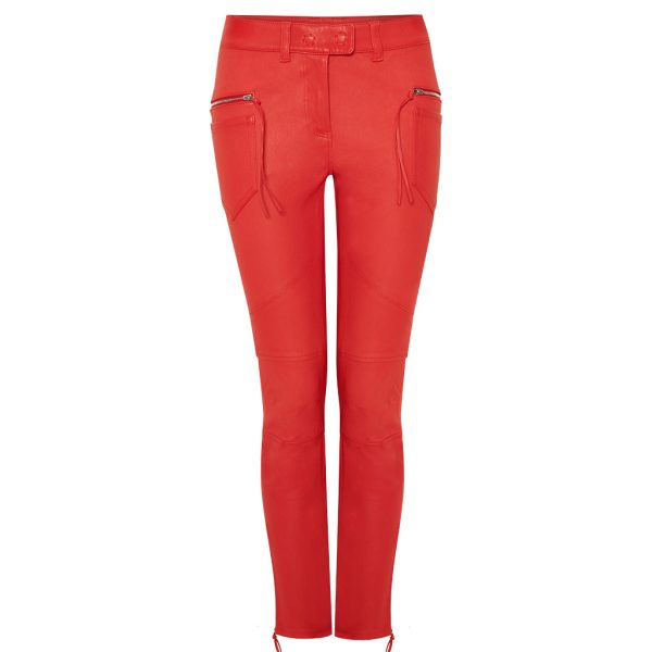 Rote Stretch Lederhose