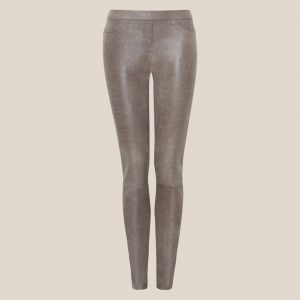 Stretch Lederleggings grau