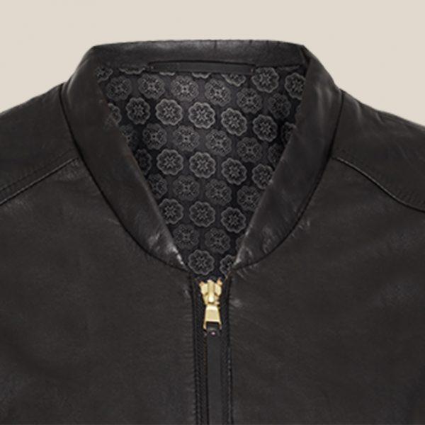 Lederblouson in schwarz