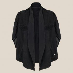 leichte Sommer Lederjacke schwarz