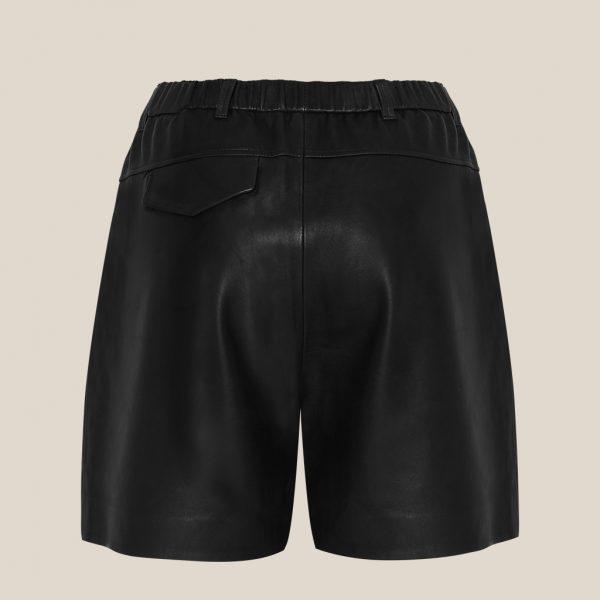 Schwarze Leder Shorts von Ayasse