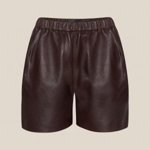 Braune Leder Shorts von Ayasse