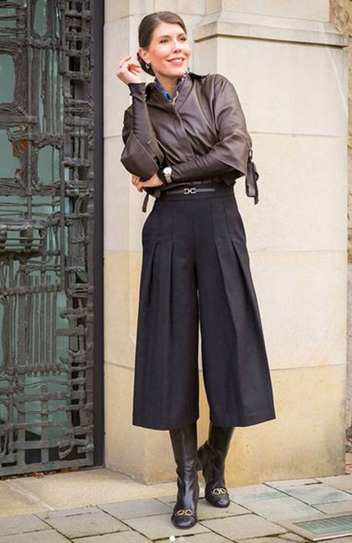 Outfit klassisch Lederhemd