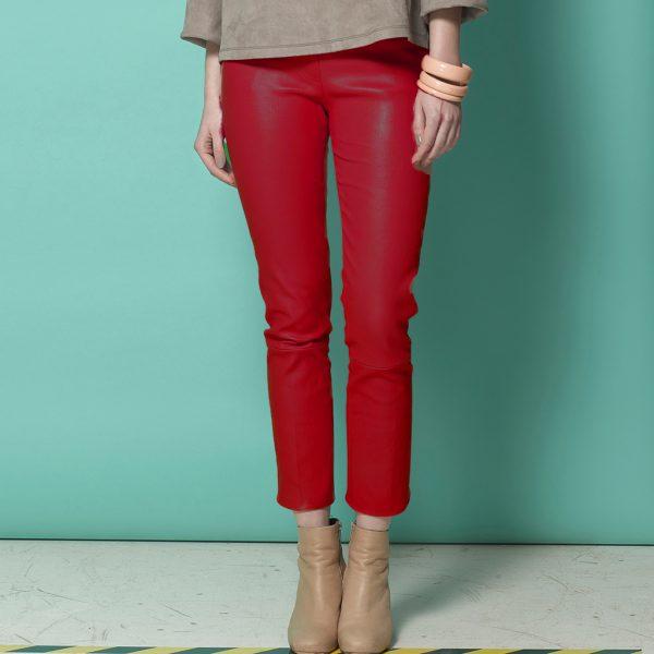 Rote Lederleggings Lou