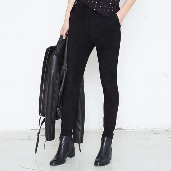 Lederhose im Jogger Style schwarz