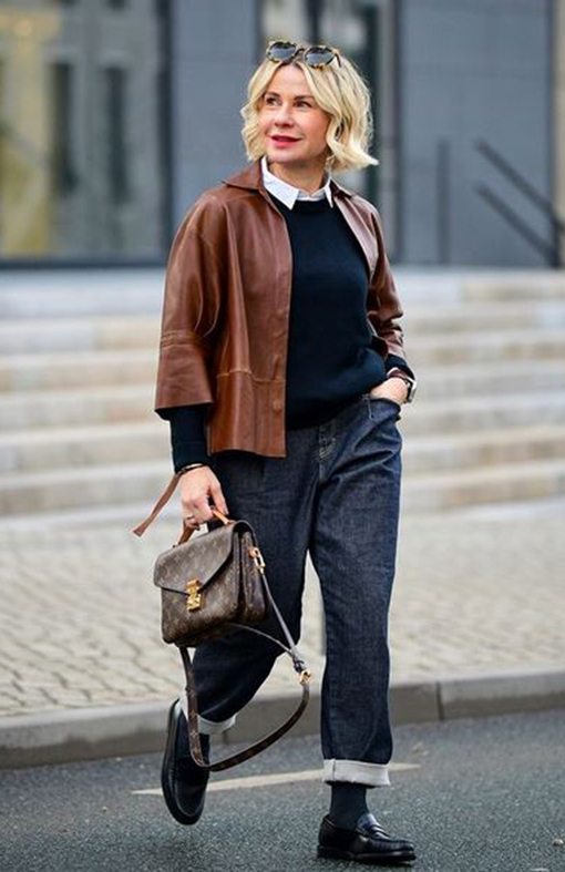 Lederhemd Outfit zur Jeans