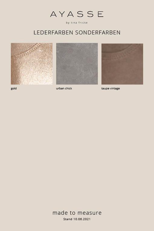 Lederfarben Sonderfarben für made-to-measure Lederleggings