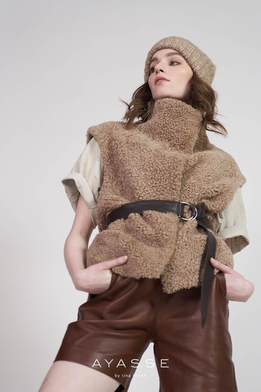 Lammfell Weste Sari von Ayasse online kaufen - herbst winter 2021