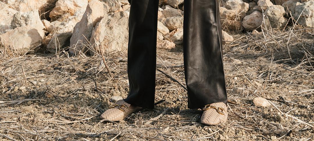 Weite Lederhose Lene von Ayasse