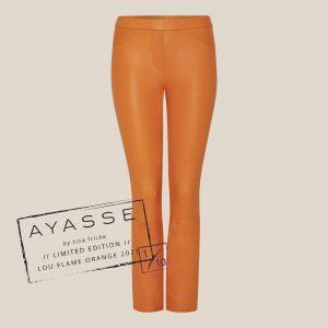Verkürzte Lederhose orange - Lou von Ayasse limited edition
